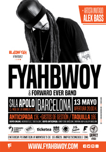 Fyahbwoy & Forward Ever Band - #FyahTour17 - Barcelona