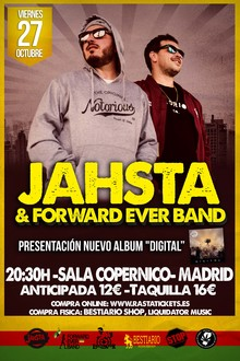 JAHSTA + Forward Ever Band en Madrid