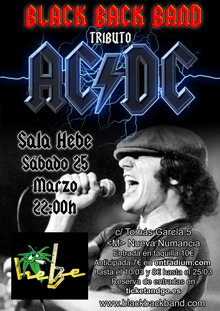 Tributo a AC/DC (Black Back Band) en Madrid