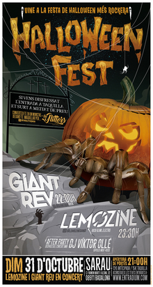 HALLOWEEN FEST Sarau. LEMOZINE + GIANT REV